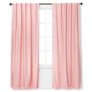 Pillowfort Solid Pink Twill Blackout Curtain Panel